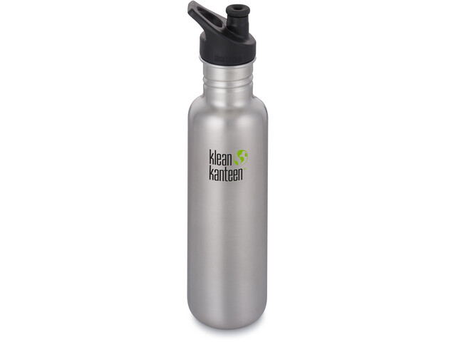 Klean Kanteen Classic Gourde Bouchon sport 800ml, brushed stainless